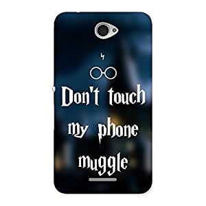 Enticing Dont Touch Back Case Cover for Sony Xperia E4