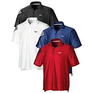 Genuine Audi Men's Adidas ClimaCool® Mesh Polo -RED -Size Large