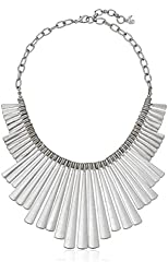 """Lucky Brand Silver Paddle Necklace, 18"""" + 1"""" Extender"""