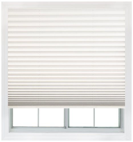 Easy Lift, 36-inch by 64-inch, Trim-at-Home (fits windows 21-inches to 36-inches wide) Cordless Pleated Shade, Light Filtering, White (Window Blinds And Shades compare prices)