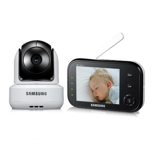samsung sew 3037w wireless video baby monitor with infrared night vision and zoom. Black Bedroom Furniture Sets. Home Design Ideas