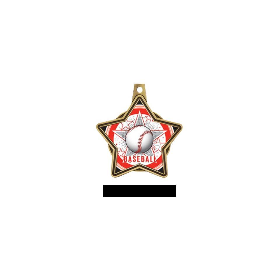 Hasty Awards All Star Insert Custom Baseball Medals GOLD