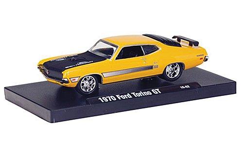 Ford Torino GT, yellow/matt black , 1970, Model Car, Ready-made, M2 Machines 1:64 - 1