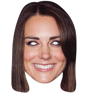 Kate Middleton Celebrity Face Card Mask