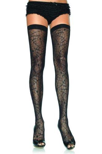 Black Spiderweb Design Stockings (UK6-10)