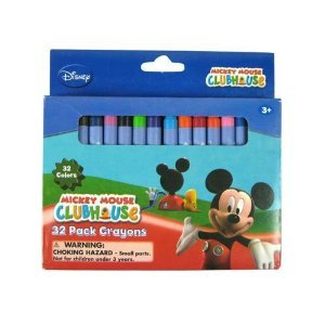 Disney Mickey & Minnie 32pc Crayons in Box - 1