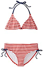 Kanu Surf Big Girls\' Bali Bikini Swimsuit, Red, 10