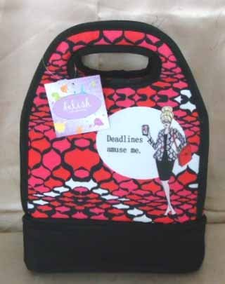 "WORKING GIRLS LUNCH BAG ""DEADLINES"" - 1"