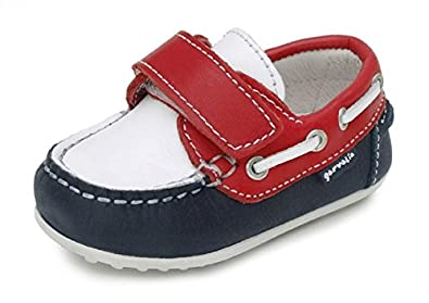 Garvalin Baby Boys Boat Shoes in Multi Colour White
