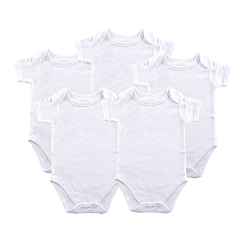 Luvable Friends 5-Pack White Bodysuits