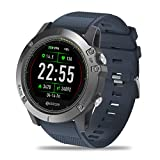 Zeblaze Super Lightweight Vibe 3 HR Smart Watch, Rugged Inside Out HR Monitor 3D UI All-Day Activity Record 1.22' IPS IP67 Waterproof Smart Watch for Activity Tracker Blue (Color: blue)