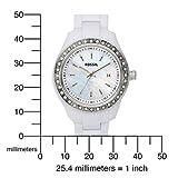 Fossil Women's ES2437 White Resin Bracelet White Mother-Of-Pearl Glitz Analog Dial Watch