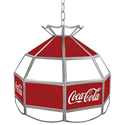 Trademark Global Coca Cola Vintage Large Graphic Stained Tiffany Lamp, 16-Inch