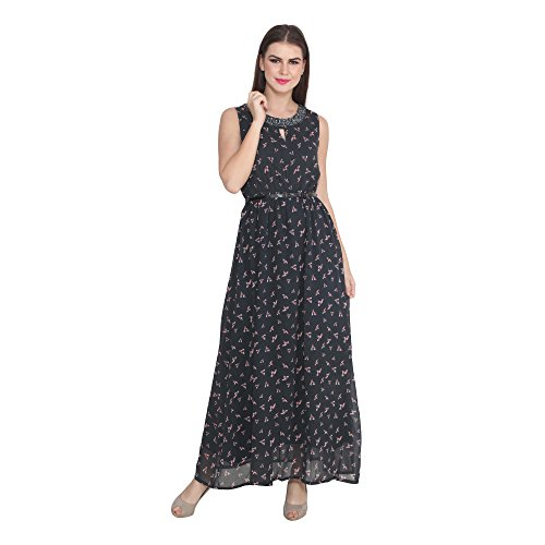 Cj15-Black-Cotton-Lycra-Sleeveless-Dresses-For-Womens