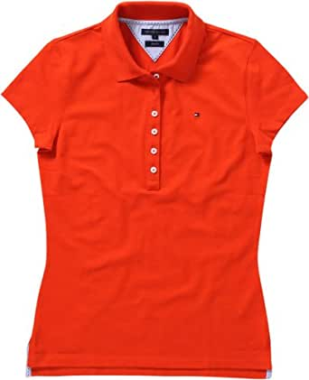 Tommy Hilfiger - Polo - Manches 1/2 - Femme - Orange (828 Pureed Pumpkin-Eur) - FR : 38 (Taille fabricant : M)