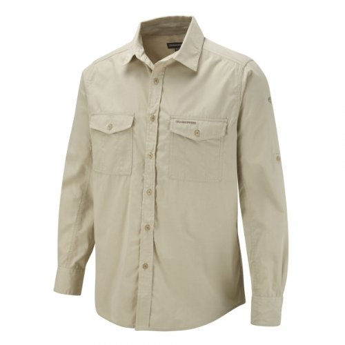 Craghoppers Kiwi, Camicia a maniche lunghe da uomo, Avena, XL