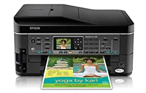 Epson WorkForce 545 Wireless All-in-One Color Inkjet Printer, Copier, Scanner, Fax, iOS/Tablet/Smartphone/AirPrint Compatible (C11CB88201)