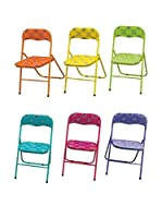 GALILEO Set Silla Plegable 6 Uds. Bali Multicolor