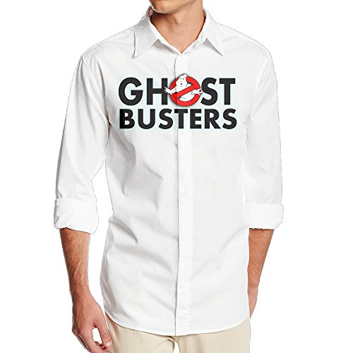 [DAMEI Men's GentsGhost Busters Logo Long Sleeved Dress Shirt / Casual Shirts Suits] (Cute Slimer Costumes)