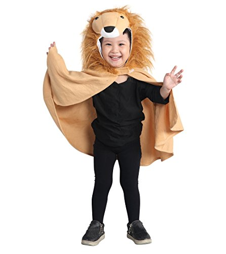 Fantasy World Boys/Girls Lion Halloween Cape Costume, One Size, An77 (Cuddly Lion Baby Costume)