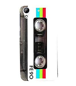 Musical Tape Cassette 3D Hard Polycarbonate Designer Back Case Cover for HTC Desire 728G Dual Sim::HTC Desire 728G::HTC Desire 728