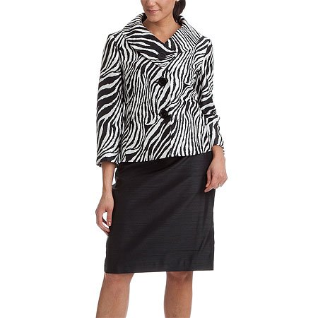 John Meyer Black 2-Button Skirt Suit