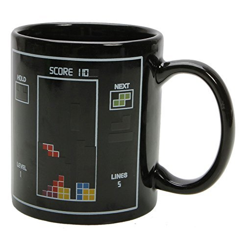 Magic Heat Sensitive Toy Bricks Color Changing Coffee Cup Mug Black