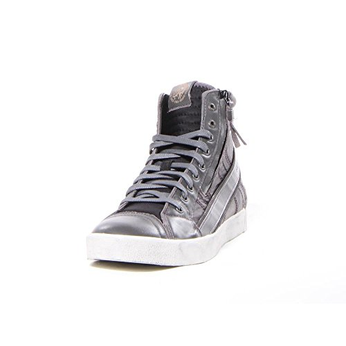 DIESEL D-String Plus sneakers uomo alta PELLE CASTLE ROCK BLACK 44