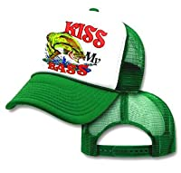 Kiss My Bass Fishing Mesh Trucker Hat Cap