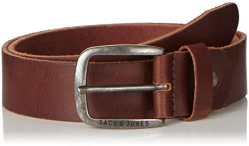 JACK & JONES JJIPAUL JJLEATHER BELT NOOS, Cintura Uomo, Marrone (Black Coffee), 85 cm