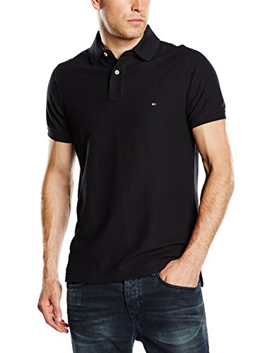 Tommy Hilfiger Performance Slim Fit-Polo Uomo    nero Medium