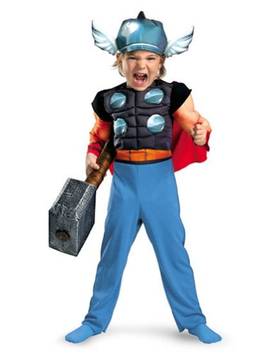 Thor Muscle 4-6 Kids Boys Costume