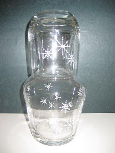 Hand Painted Snowflake Design Carafe Set