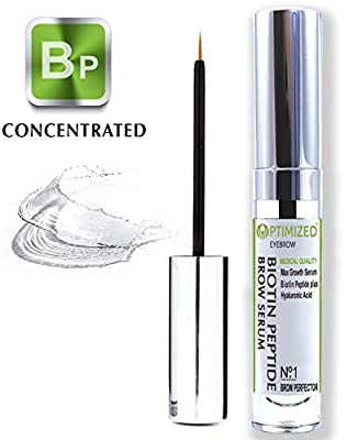 Best Cheap Deal for Best BIOTIN PEPTIDE Infused Eyebrow Serum Get Visibly Longer, Fuller, Thicker, Darker Eyebrows with Natural Hyaluronic Acid + Tripeptide Anti Aging Medical Grade Formula For Perfect Brows - OPTIMIZED by OPTIMIZED Products - Free 2 Day