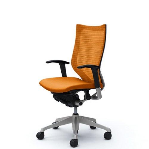 オカムラ オフィスチェア バロン ハイバック 可動肘 座クッション オレンジ  CP85DR-FDF8