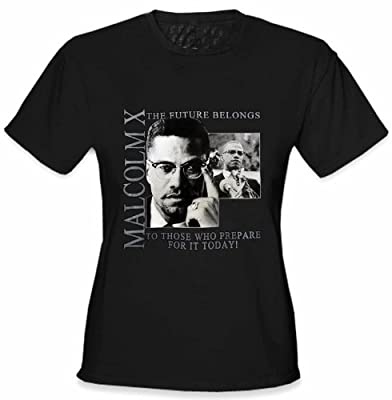 African American Heroes - Malcolm X Girl's T-Shirt #B306