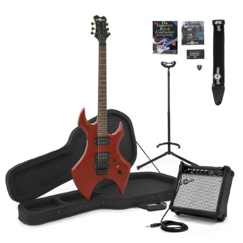Metal X Electric Guitar + Complete Pack Red