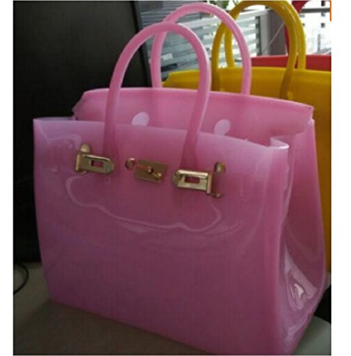 Luxury cute jelly candy color beach waterproof summer tote/office bags (Hermes Jelly Bag compare prices)