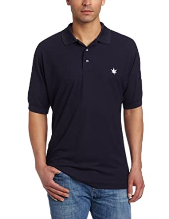 Boast Men's Solid Court Performance Polo, Navy/White, Small