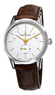 Maurice Lacroix Men's LC7008-SS001130 Les Classiques Silver Power Reserve Indicator Dial Watch
