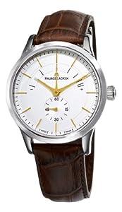 Maurice Lacroix Men's LC7008-SS001130 Les Classiques Silver Power Reserve Indicator Dial Watch