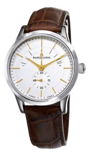 Maurice Lacroix Men's LC7008-SS001130 Les Classiques Quartz Silver Power Reserve Indicator Dial Watch