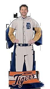 MLB Detroit Tigers Uniform Huddler Blanket With Sleeves by Northwest