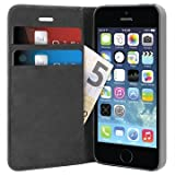 Puro IPC5BOOKCBLK Custodia Folio per iPhone 5/5S Nero