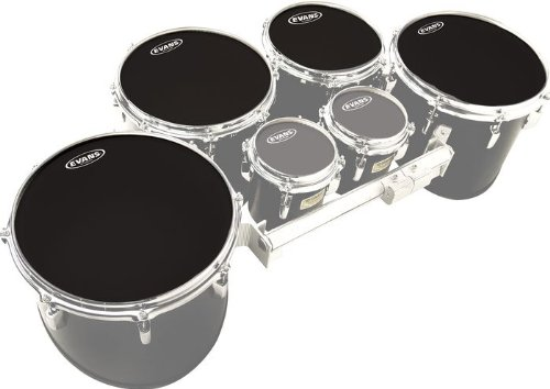 Evans MX Black Tenor Drumhead 4 Pack