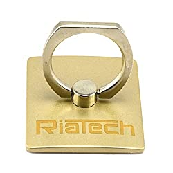 """RiaTechâ""""¢ Universal Cellphone/Tablet Ring Holder/Stand/Stent/Bracket,360 Degree Hand Grip Kickstand for Compatible with Any Cellphone or Tablet (Golden)"""