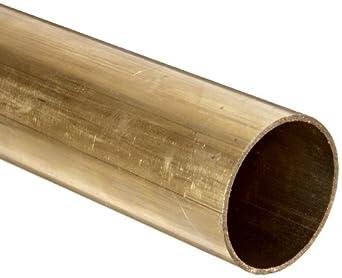 "Brass Round Tubing, 7/47"" OD, 0.09225"" ID, 0.032"" Wall, 36"" Length"