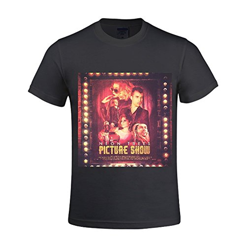 Neon Trees Picture Show Men Shirts Crew Neck Funny Black (Pinky Pie Adult Shirt compare prices)
