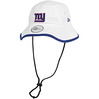 NFL New York Giants Training Camp Bucket Hat, White, One Size Fits All by New Era