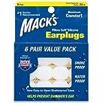 Macks Pillow Soft シリコン耳栓 6ペア